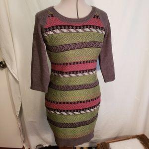 Pink rose sweater dress in medium